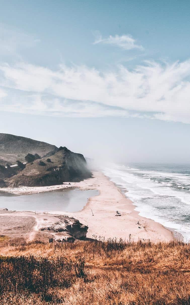San Gregorio State Beach.