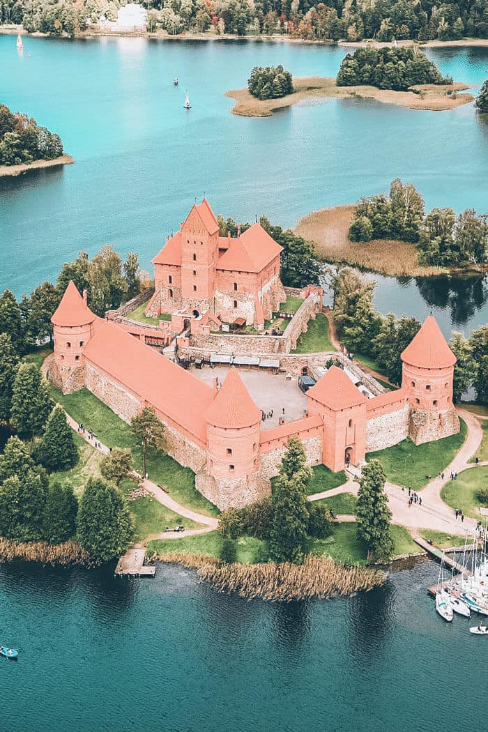 One of the best castles in Lithuania. Trakai Island Castle.