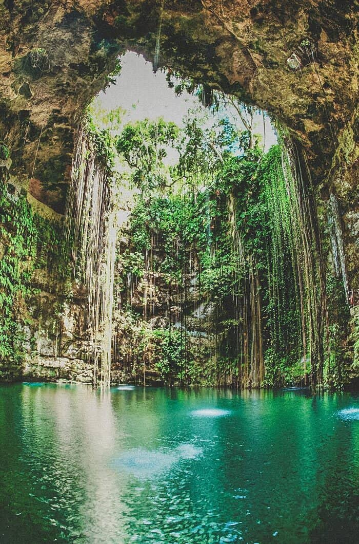 Fun things to do in Cancun! Ik-Kil Cenote! one of the best Cenotes in Cancun.