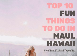 Hike to the top of Haleakala Crater in Maui! Top 10 Things to do on a Maui Vacation, Hawaii! Visit avenlylanetravel.com to explore some of the most incredible beaches, waterfalls, hikes and things to do in Maui. Need help planning your Hawaii vacation? These Hawaiian travel tips will help to make sure you don't miss the best places to see in Maui. #hawaii #maui #islands #usatravel #usa #beaches #beach #avenlylanetravel #avenlylane