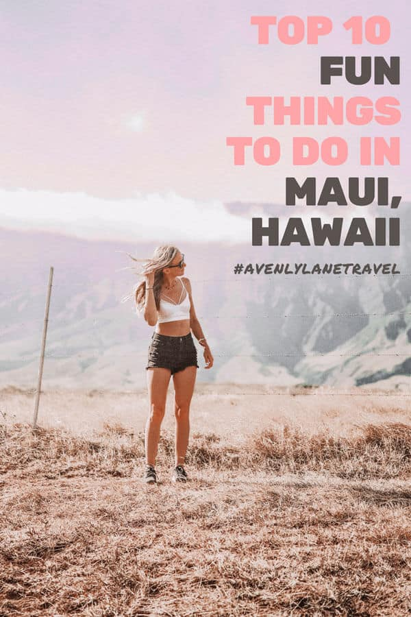 Hike to the top of Haleakala Crater in Maui! Top 10 Things to do on a Maui Vacation, Hawaii! Visit avenlylanetravel.com to explore some of the most incredible beaches, waterfalls, hikes and things to do in Maui. Need help planning your Hawaii vacation? These Hawaiian travel tips will help to make sure you don't miss the best places to see in Maui. #hawaii #maui #islands #usatravel #usa #beaches #beach #avenlylanetravel #avenlylane #vacation #traveltips #travelinspiration #usabucketlist
