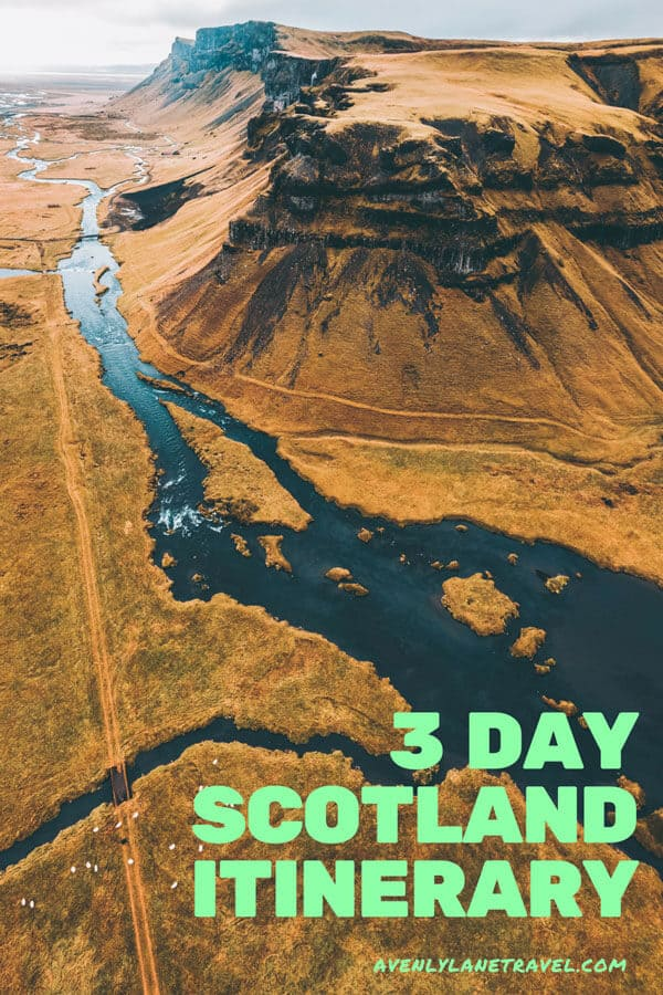 3 Day Scotland Itinerary. The best things to see with 3 days in Scotland, including a road trip in Scotland up to the amazing castles and Scottish Highlands. #scotland #avenlylanetravel