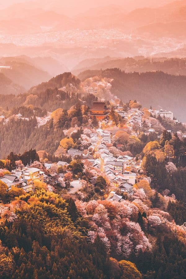 #AVENLYLANE #AVENLYLANETRAVEL The Most Beautiful Places You Have to Add to your Japan Bucket List. Yoshinoyama, Nara, Japan. This place is unbelievable! #Japan #asia #travelblog Check out these incredible places in Japan on www.avenlylane.com