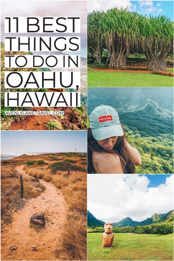 11 BEST THINGS TO DO IN OAHU! You do not want to miss these top Hawaii bucket list attractions on your next vacation. Although Oahu has many popular tourist attractions, there is a lot more to see on the island than just Waikiki Beach and the other typical stops. #AVENLYLANETRAVEL #HAWAII #OAHU #avenlylane #travelinspiration