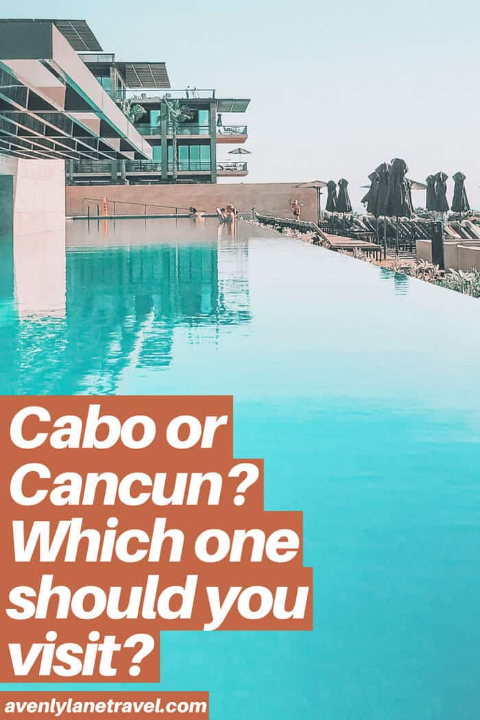 Cabo or Cancun which is better? Planning a trip to Mexico and wondering which beach vacation you should consider - Cabo or Cancun? If you are wondering which is better than click through to www.avenlylanetravel.com and check out the major differences between the 2 beach destinations in Mexico. #cabo #mexico #cancun #avenlylane #avenlylanetravel