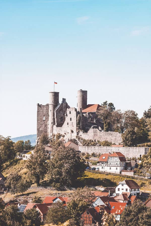 Hanstein Castle in Thuringia Germany
