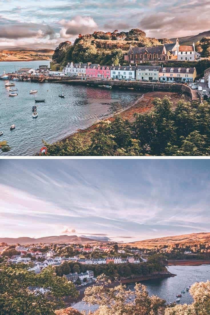 Portree Scotland in the Scottish Highlands