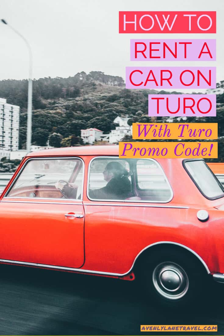 Turo Promo Code and Everything You Need to Know About Renting Your Car on Turo! Save a ton with apps like Turo. Looking for a budget friendly travel option? For those that haven't heard of it, it is basically Airbnb but with cars. A car owner list their own vehicle for rent, setting their price and days it is available. #turo #carrentals #traveltips #avenlylane #avenlylanetravel