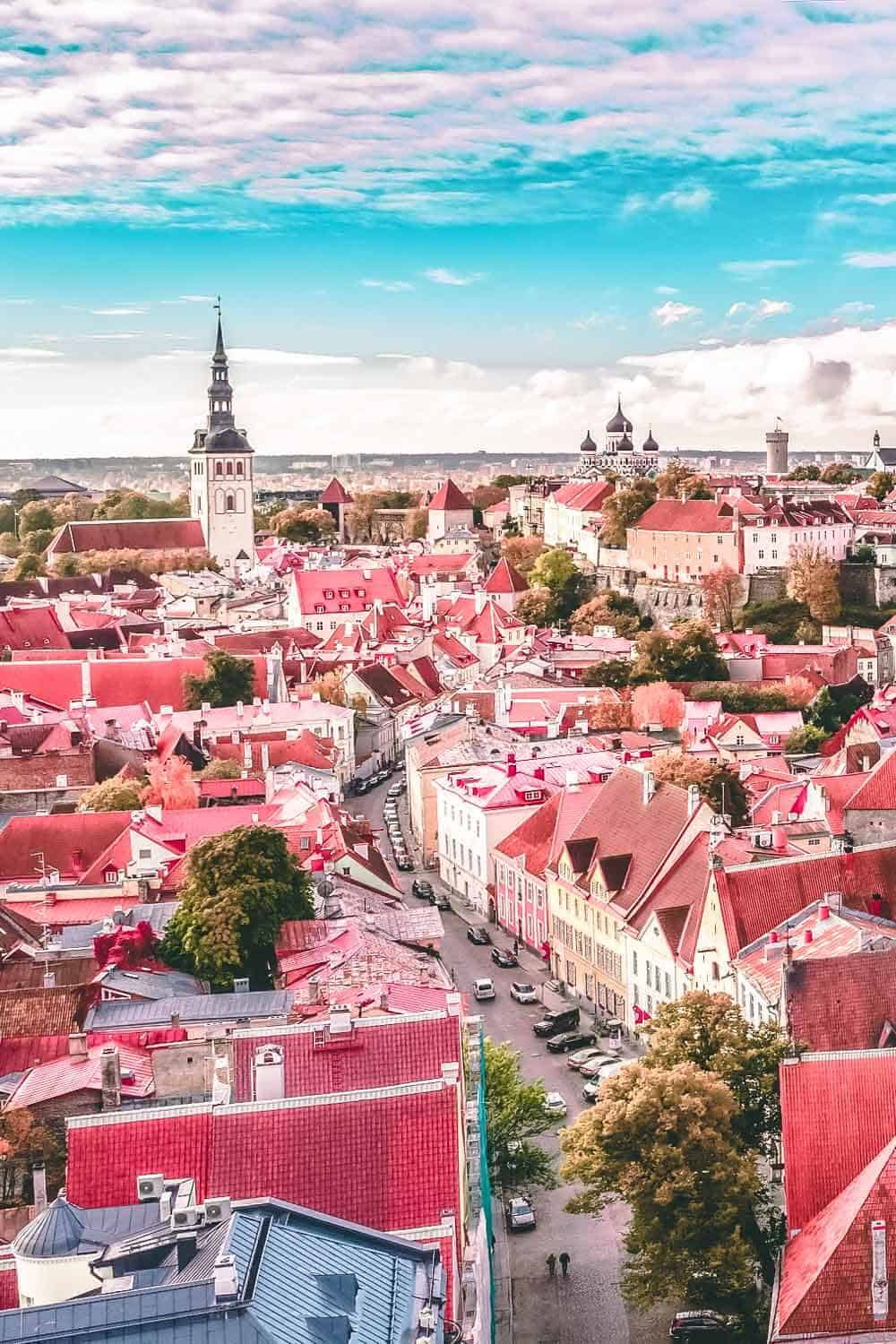 The best viewing point in Old Town Tallinn. Best things to do in Tallinn Estonia! If you are planning on traveling to Europe you need to check out Tallinn. It is one of the most beautiful cities in Europe - a real life fairy tale! Check out the top 10 things to do in Tallinn on avenlylanetravel.com | #tallinn #tallinnestonia #estonia #europe #europetravel #travelinspiration #beautifulplaces #bucketlist #travelbucketlist #europebucketlist #avenlylane #avenlylanetravel
