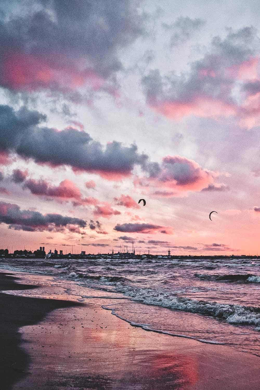 Pirita Beach in Tallinn Estonia.