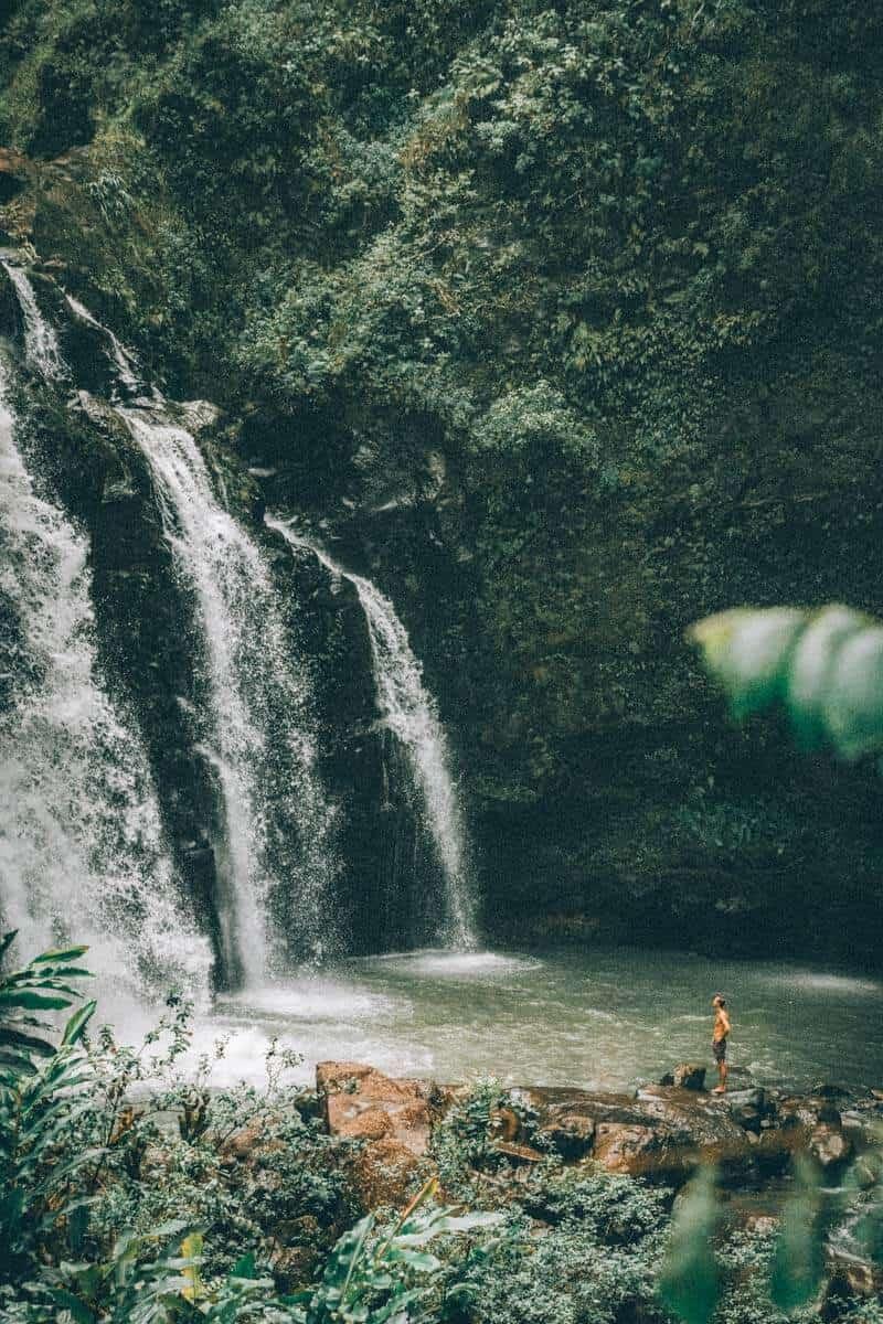 Upper Waikani Falls AKA the Three Bears