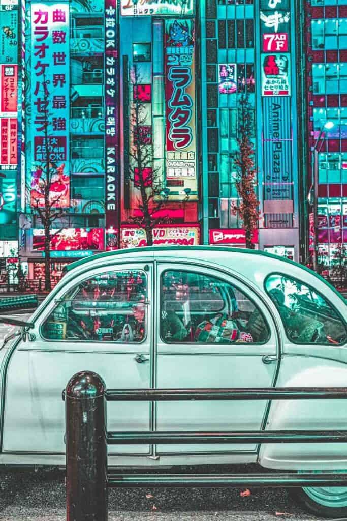 Car in Akihabara Tokyo