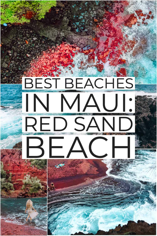 Red Sand Beach or Kaihalulu Beach in Hawaii