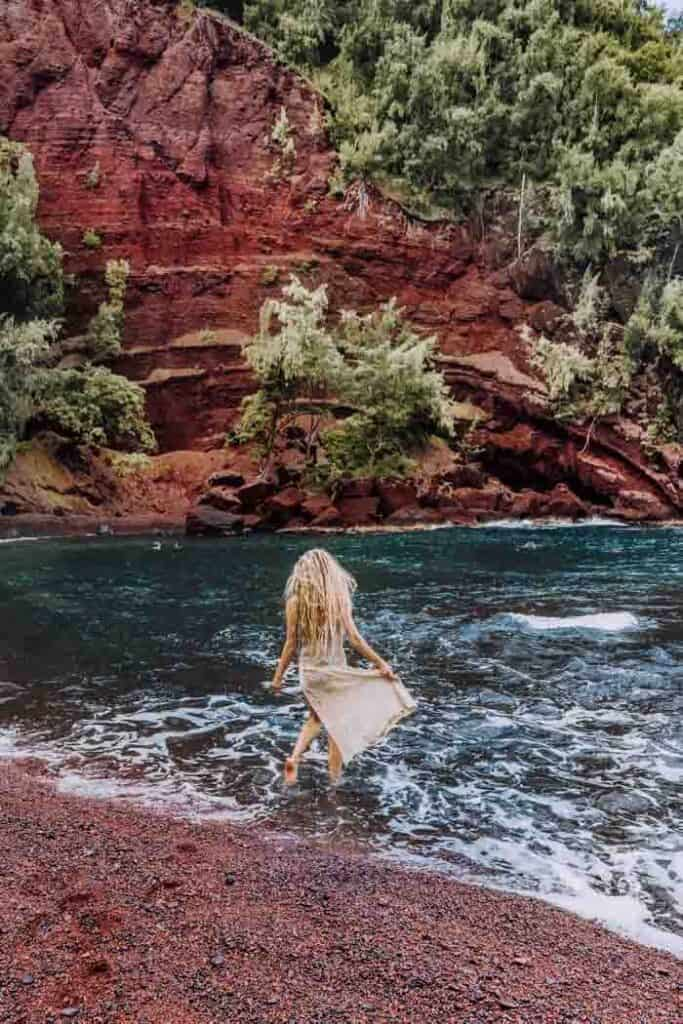 One of the Best Beaches Maui Offers: Red Sand Beach - Avenly