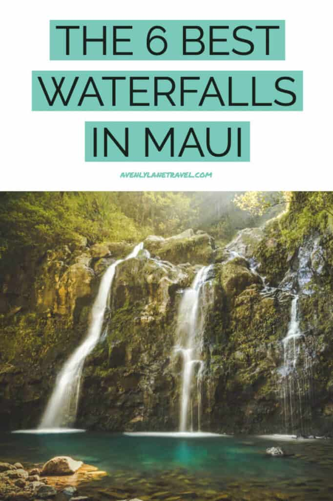 6 Most Easily Accessible Maui Waterfalls -  You Won't Need To Hike To. If you are planning a trip to Maui Hawaii you do not want to miss these waterfalls! They deserve a spot at the top of everyone's Hawaii bucket list