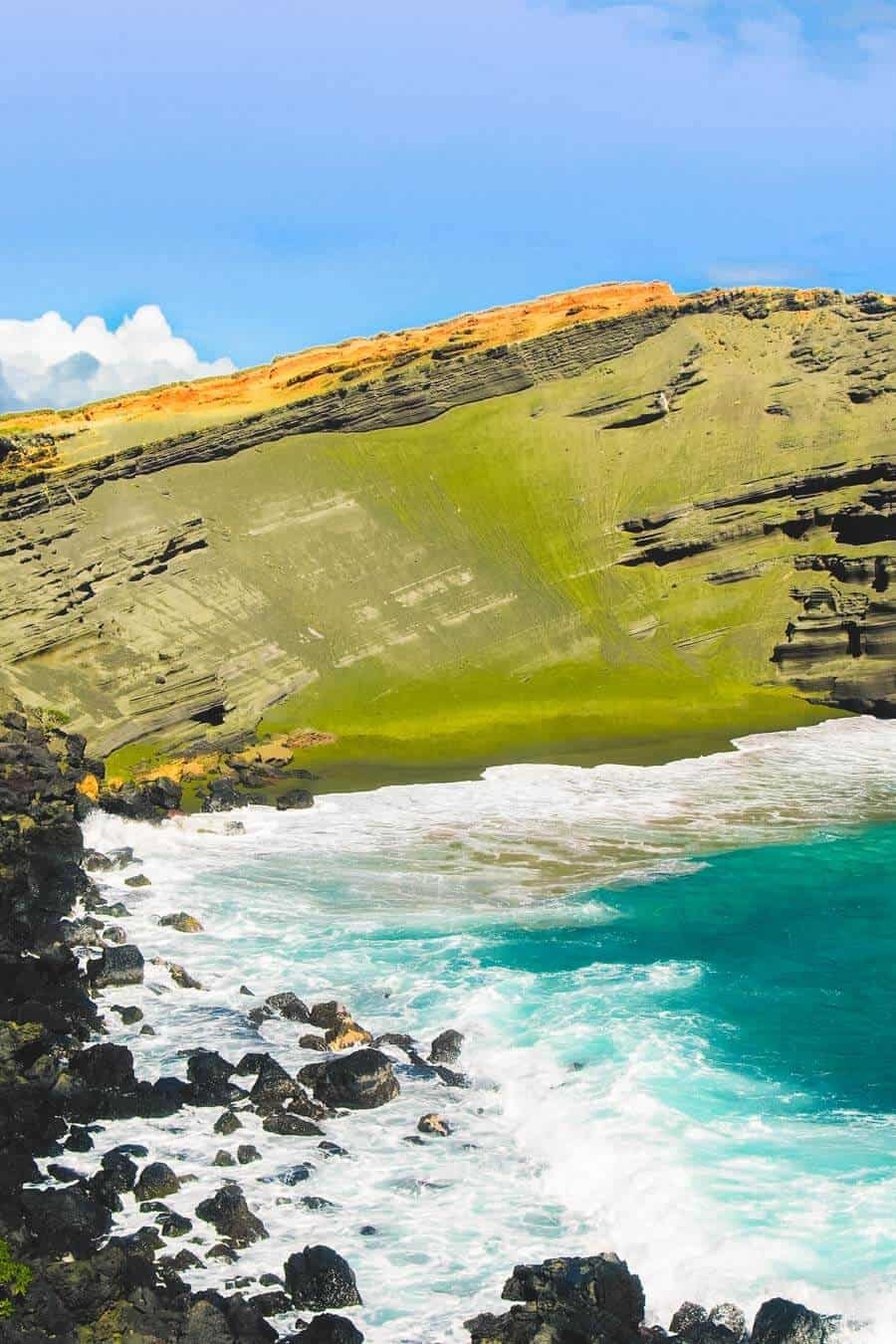 Papakolea Beach Green Sand Beach