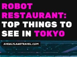 Robot Restaurant: Things to do in Shinjuku Tokyo! Want to see the famous Robot Restaurant in Shinjuku? Here is everything you need to know. #tokyo #Japan #travelinspiration #tokyofood #AVENLYLANE #AVENLYLANETRAVEL