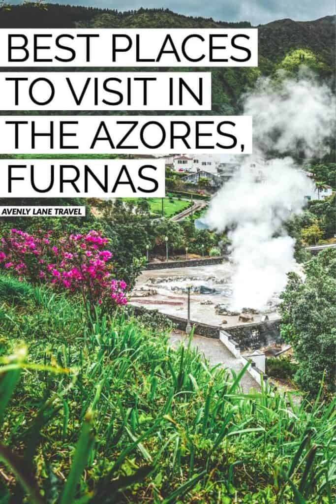 Terra Nostra Park in the AZORES ISLANDS, Portugal! You must visit the picturesque village of Furnas on any trip to the Azores. Located on the Portuguese island of Sao Miguel Azores, this town is a natural hotspot of geothermal activity. It somehow feels completely different from the rest of the island. #AVENLYLANETRAVEL #AVENLYLANE #portugal #azoresislands #azores #azoresportugal #travelinspiration