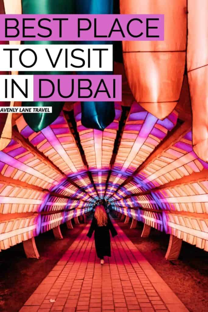 DUBAI GARDEN GLOW! AMAZING! Looking for the best place to visit in Dubai at night? Dubai Garden Glow couldn't be a more perfect way to end the night. Click through to find out more about one of our favorite places to visit in Dubai, UAE #AVENLYLANETRAVEL #AVENLYLANE #dubai #dubaitravel #travelinspiration #dubaigardenglow #dubaitourism #beautifulplaces #travelblog