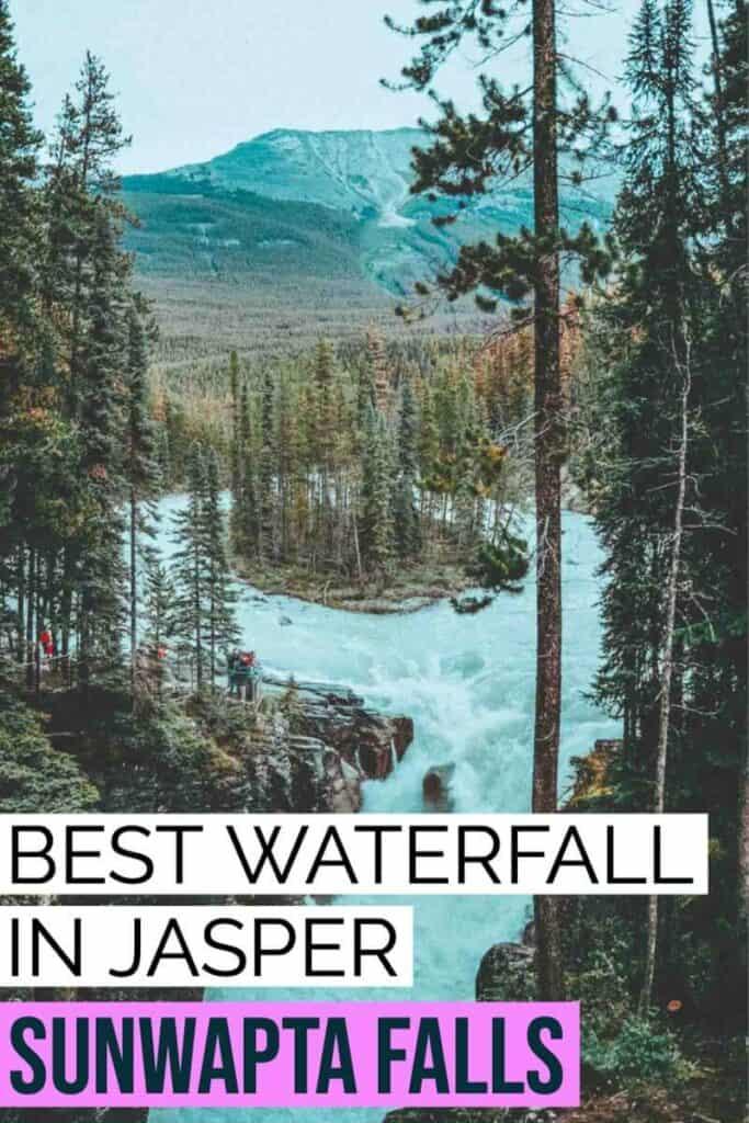Best waterfall in Jasper - Sunwapta Falls