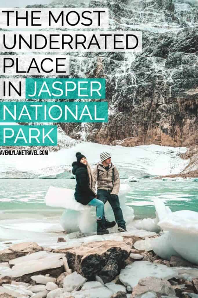 One of the most underrated Jasper attractions is Mt Edith Cavell. You can see a gorgeous blue green pond and Angel Glacier running down the mountain. #avenlylanetravel #avenlylane #jaspercanada #canada #alberta #travelinspiration #travelguide #travelblogger #explorecanada #jaspernationalpark