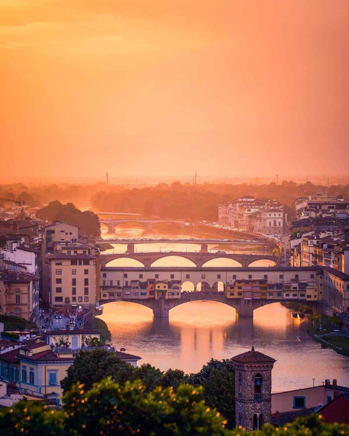 Florence Italy at sunset