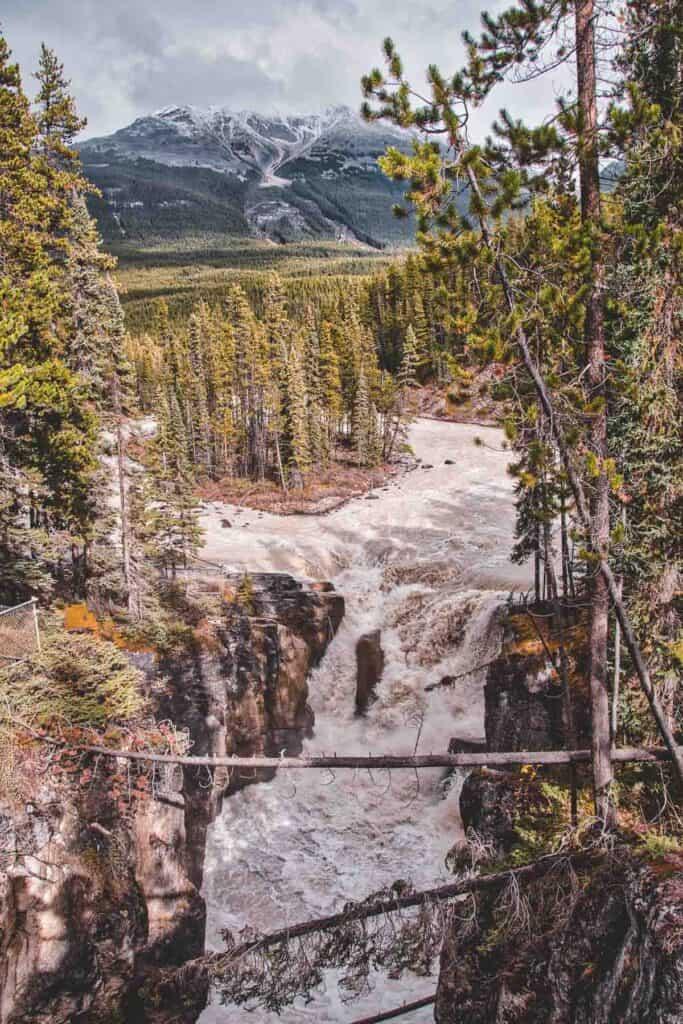 Sunwapta Falls in Jasper National Park, Alberta Canada