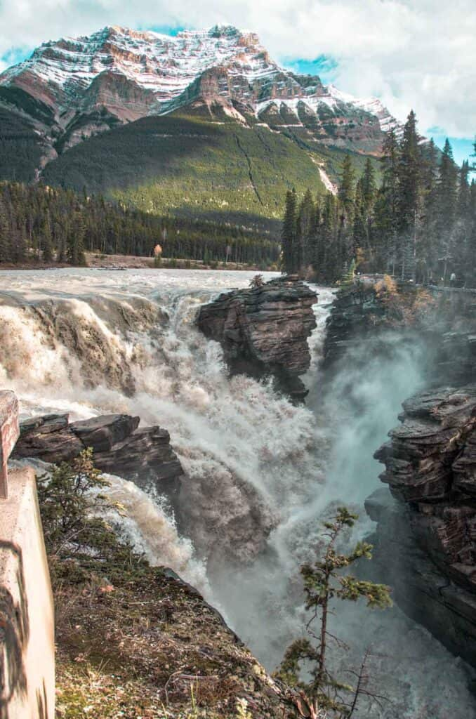 Athabasca Falls Jasper National Park Canada.