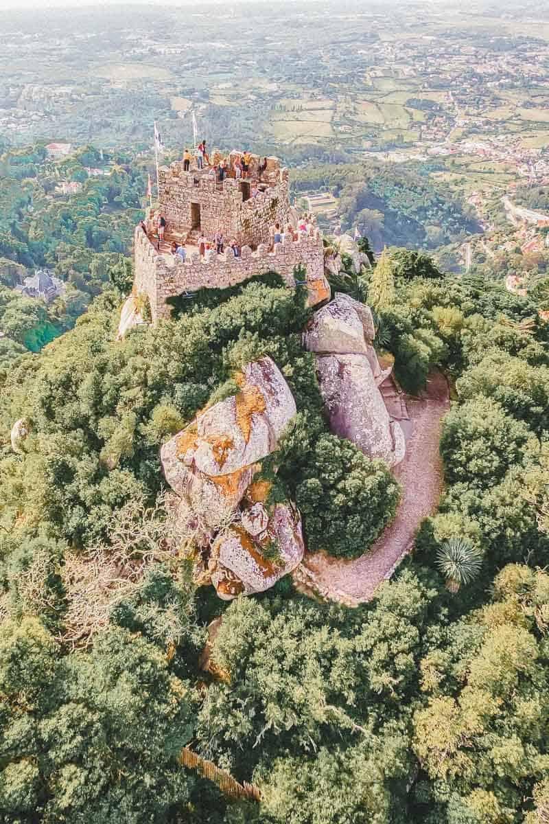 Castle of Moors in Sintra Portugal