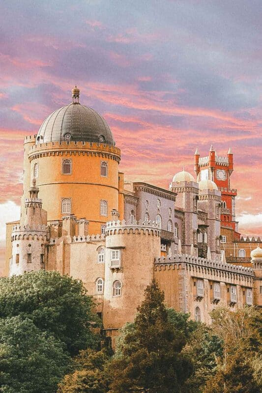Palace in Sintra, Portugal, Europe