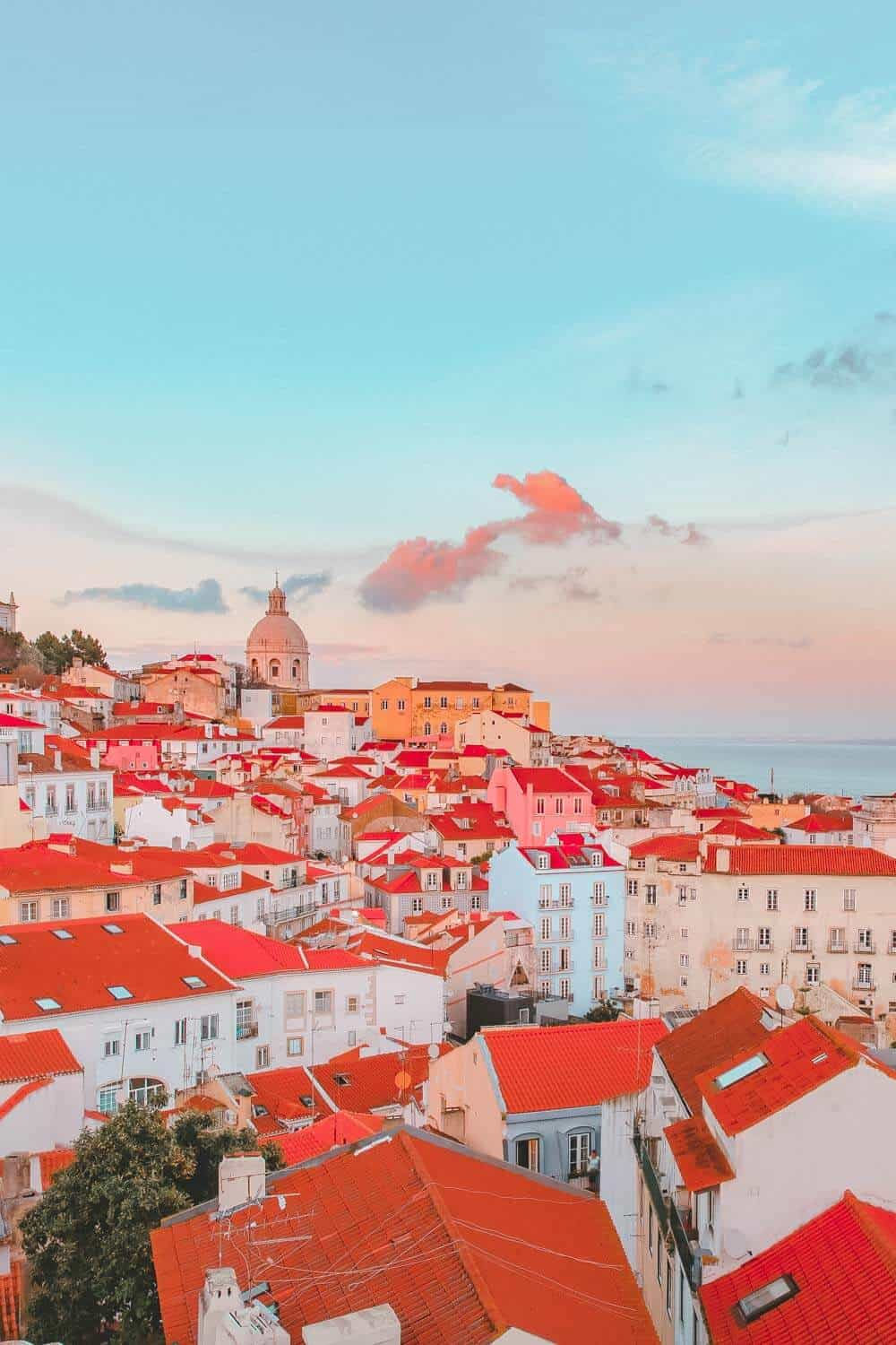 Alfama in Lisbon Portugal. Best things to do in Portugal.