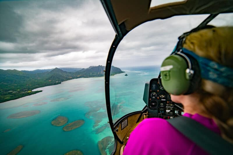 An Open Door Helicopter Tour of Oahu Hawaii