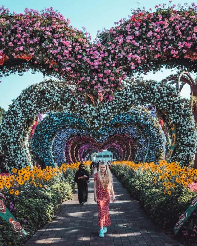 Dubai Miracle Gardens - what to wear in Dubai