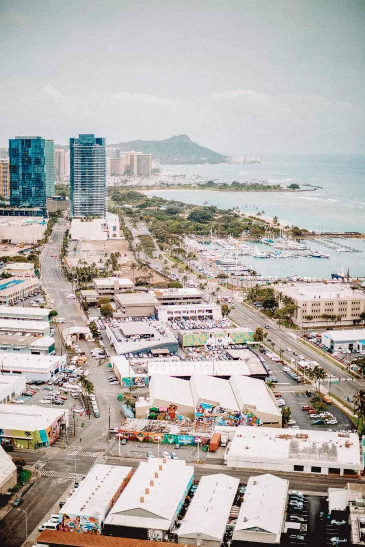 View of Waikiki Beach in Hawaii