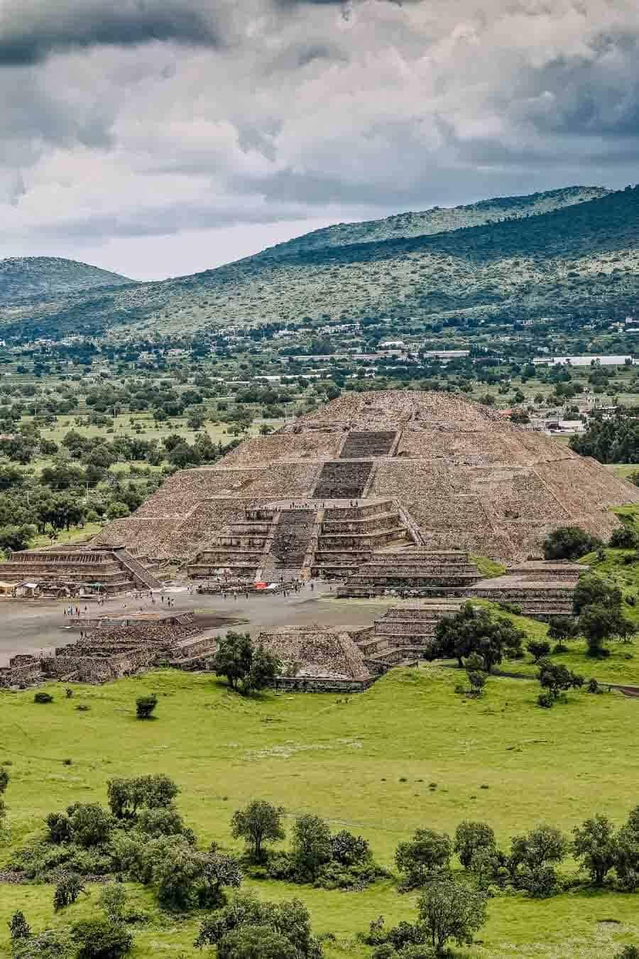 Teotihuacan Mayan ruins in Mexico