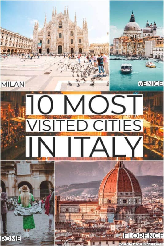 Most visited cities in Italy