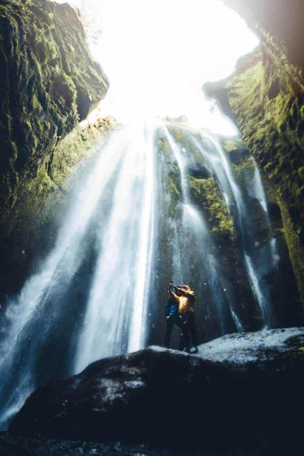 Gljúfrabúi, Iceland waterfall