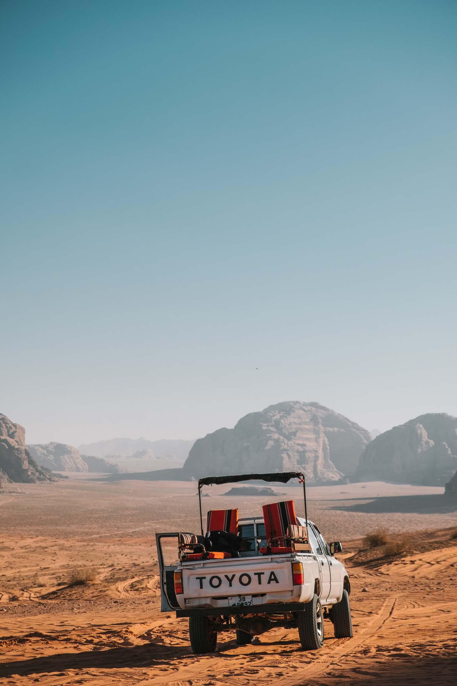 Wadi Rum desert car