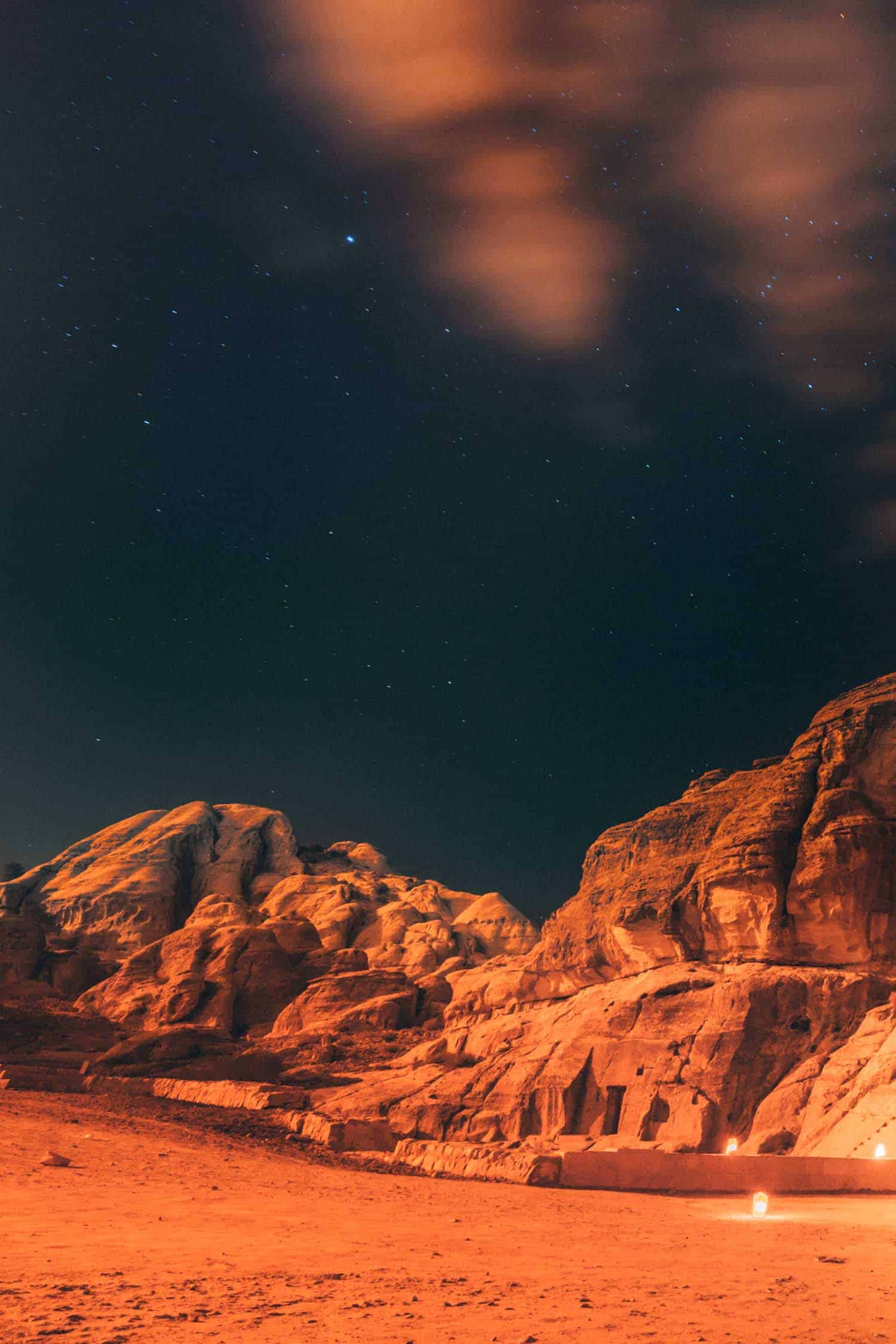 Rock from Petra by Night