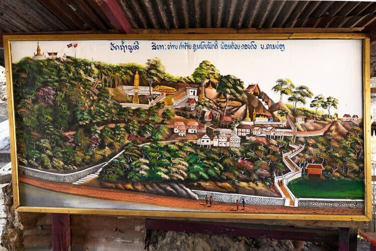 Mount Phousi Map