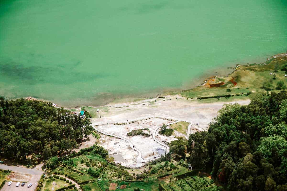 Furnas Lake and hot springs