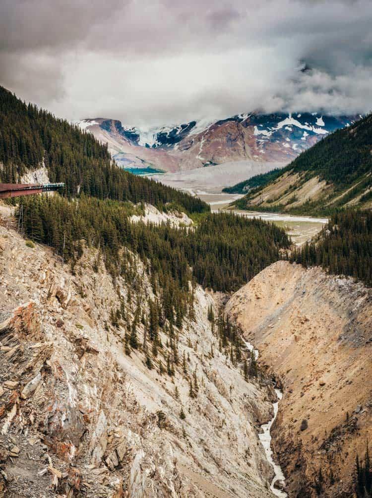 Glacier Skywalk from a distance