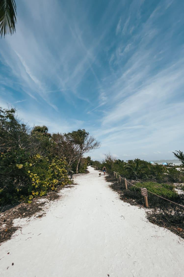 Lighthouse beach walking path