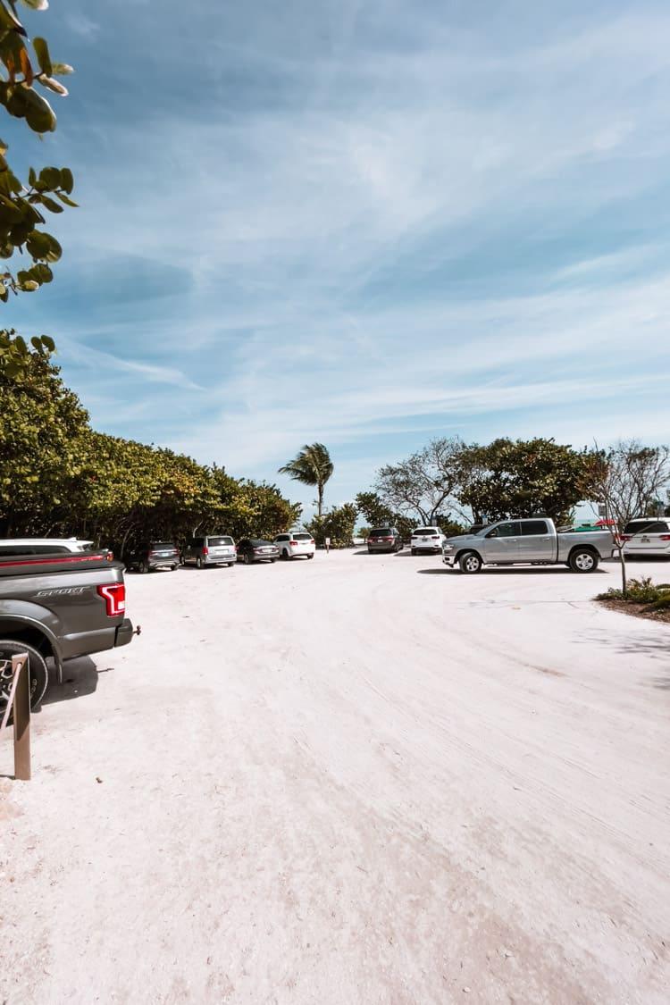 Parking lot at Lighthouse Beach