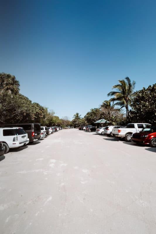 Tarpon Beach parking lot
