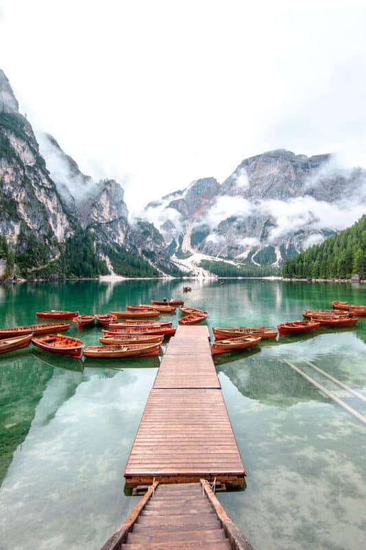 Lago di Braies, Prags, South Tyrol, Italy