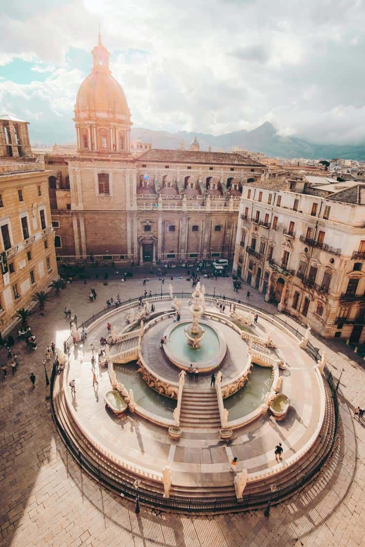 Piazza Pretoria Palermo, Italy