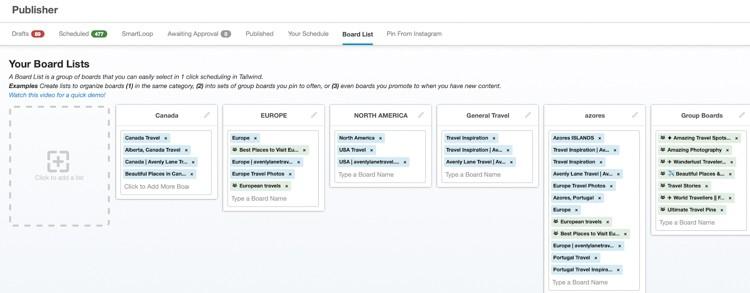 Tailwind App Board Lists