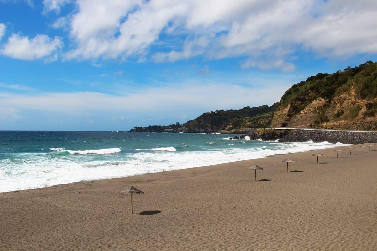 Agua d'Alto beach near Vila Franca do Campo on San Miguel island