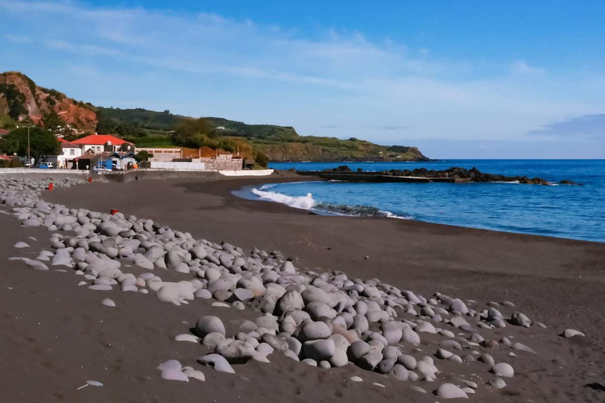 Almoxarife beach on Faial island Azores